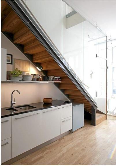 Cuisine sous escalier