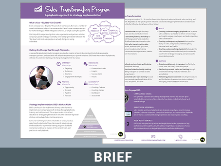 Sales Transformation Program Overview