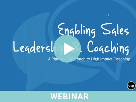 Enabling Sales Leadership & Coaching