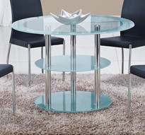 طاولة ستانلس ستيل و زجاج