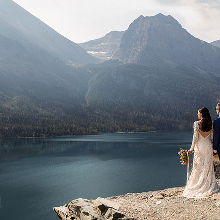 Destination Elopement in Glacier National Park | Elopement Photographer in Glacier National Park, MT