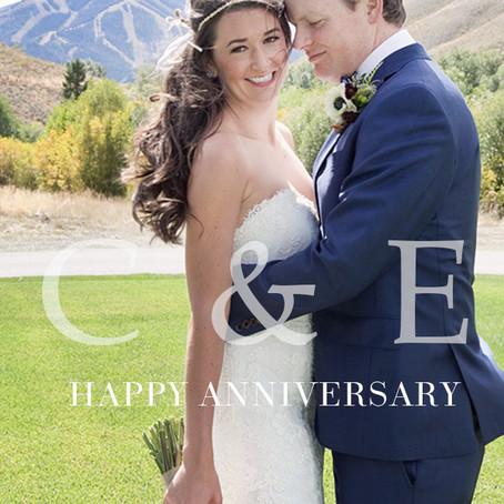 Happy Anniversary to Sun Valley Wedding Couple, Carissa and Evan   Sun Valley Wedding Photographer