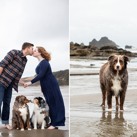 Seal Rock Oregon Coast Destination Engagement Session / Destination Wedding Photographer