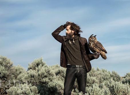 Photoshoot for designer, Robert Comstock, at Boise's World Center for the Birds of Prey | Boise, ID