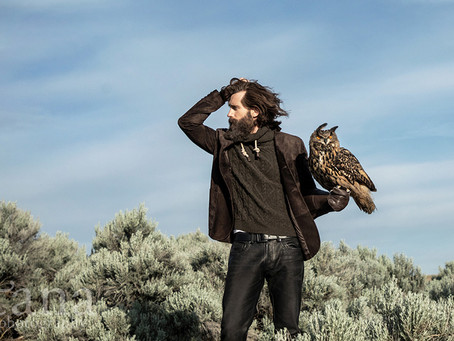 Photoshoot for designer, Robert Comstock, at Boise's World Center for the Birds of Prey | Boise, ID