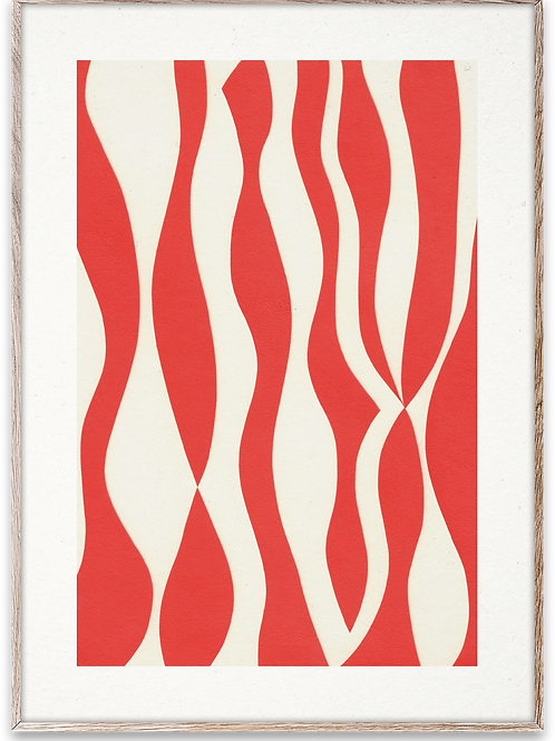 Red mirror print
