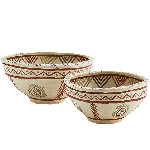 Paper maché bowls set of two