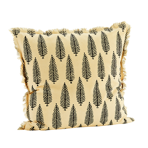 Feather fringe pillowcase