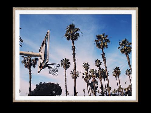LA Basketball City print