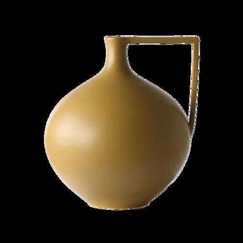 Mustard ceramic jar