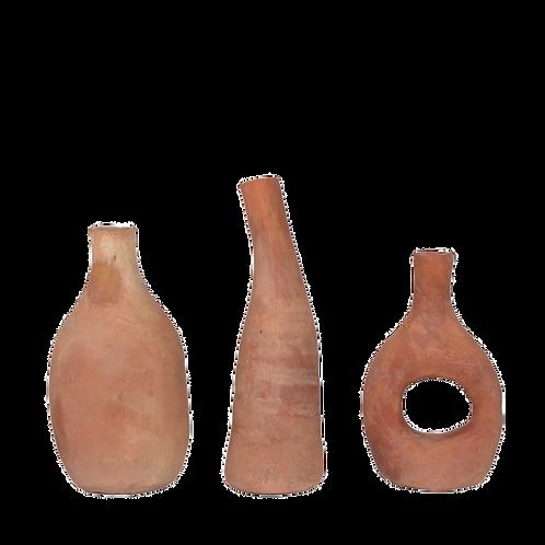 Moroccan Terra vases set of 3