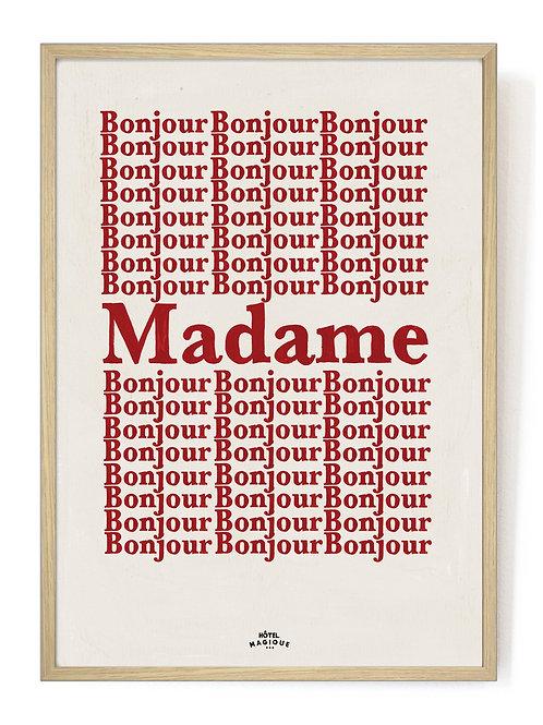 HOTEL MAGIQUE - Bonjour Madame print