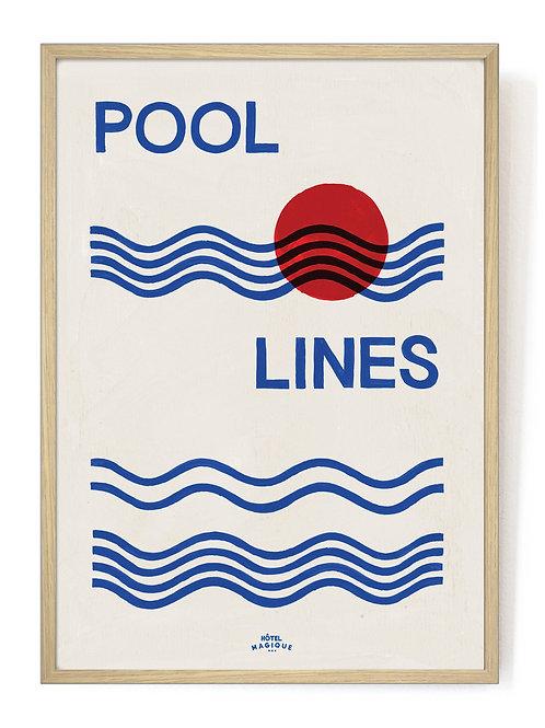HOTEL MAGIQUE - Pool lines art print