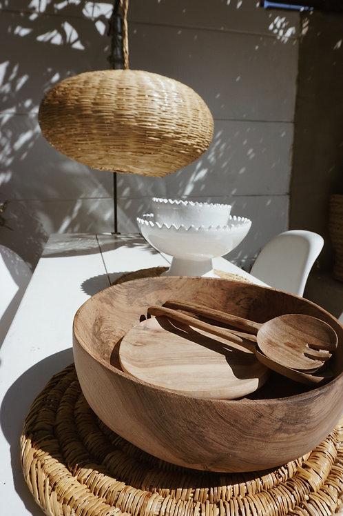 Tamegroute white salad bowl