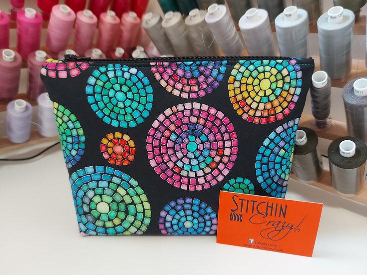 Rainbow Mosaic Make Up Bag
