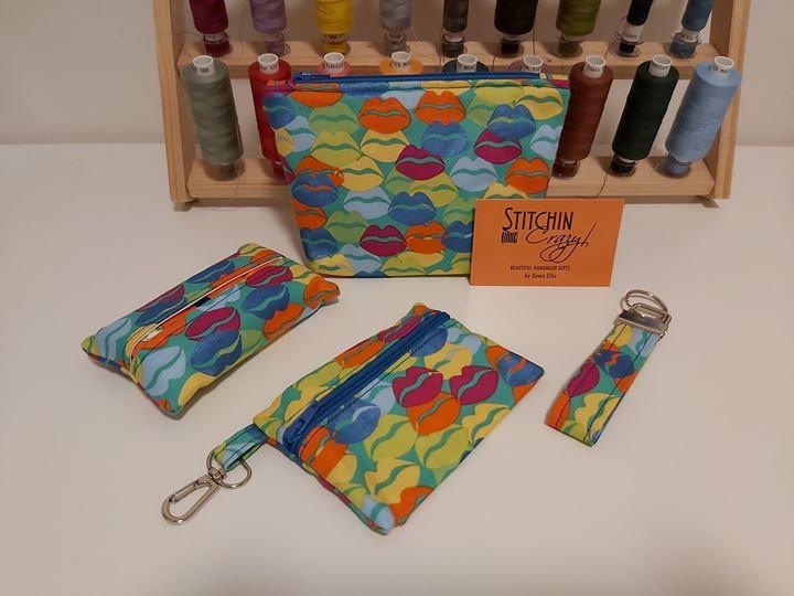 Blue Lips 4 Piece Handbag Accessory Set