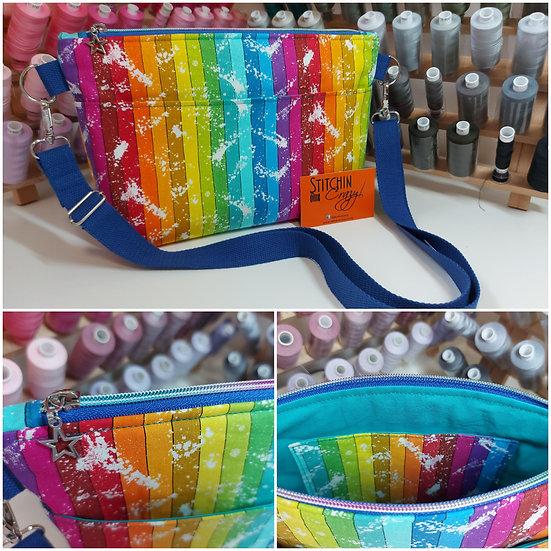 Rainbow Stripe Crossbody Bag