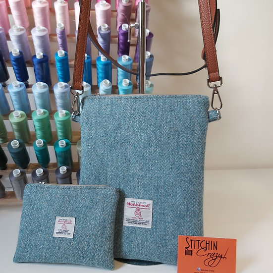 Harris Tweed Small Cross Body Bag & Matching Coin Purse