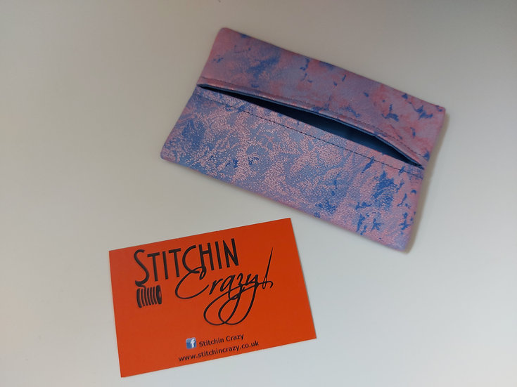 Lilac Blue Shimmer Tissue Pouch