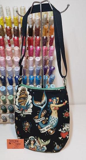 Tattoo Mermaid Cross Body Bag