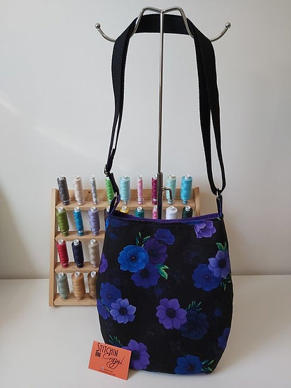 Purple Floral Cross Body Bag