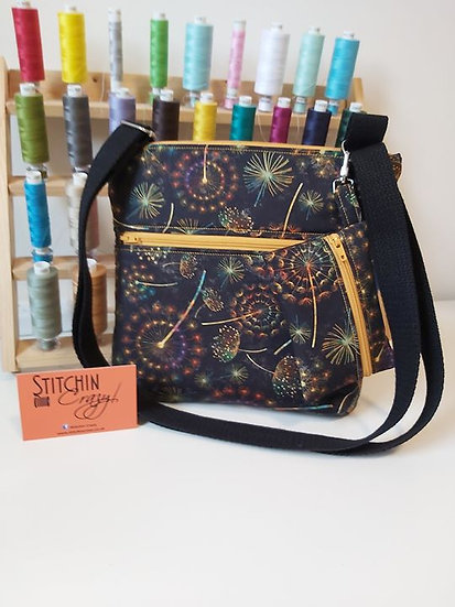 Multi Dandelion Cross Body Bag & Coin Purse Set