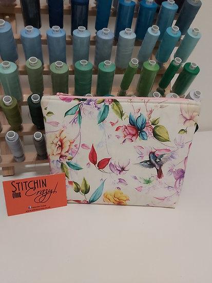 Floral Birds Make Up Bag