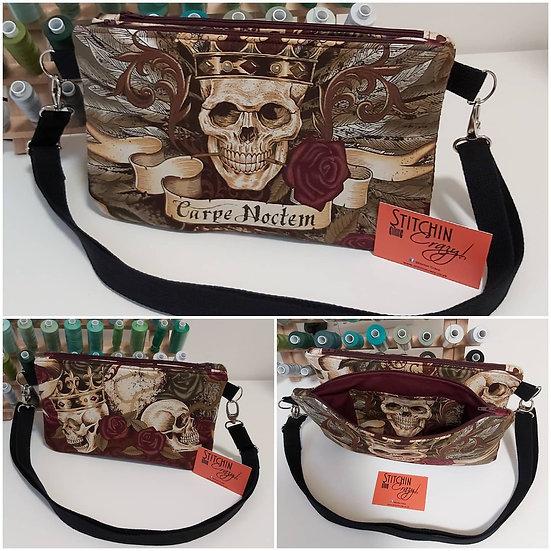 Skull Double Clutch / Cross Body Bag