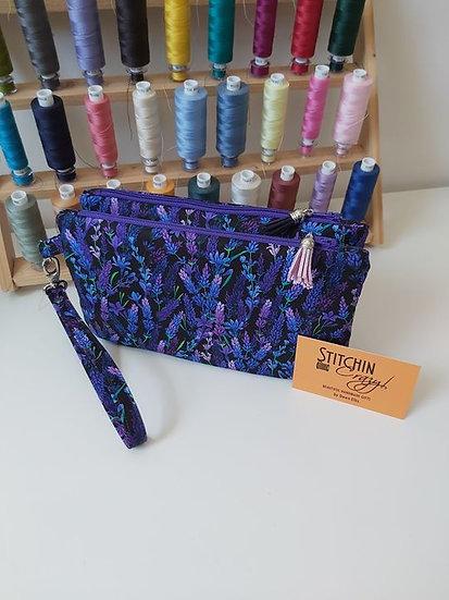 Lavender Double Clutch Bag