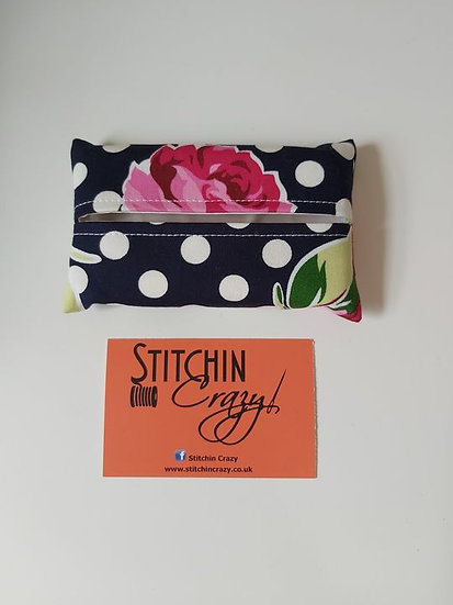 Pink Rose Tissue Pouch