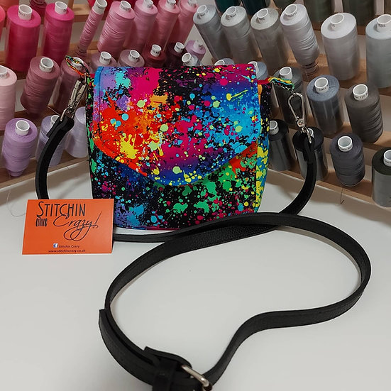 Paint Splash Mini Crossbody Bag