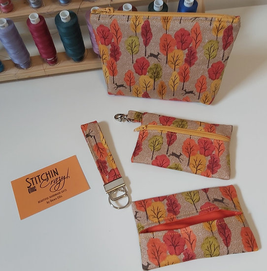 4 Piece Handbag Accessory Set (Autumn Leaves))