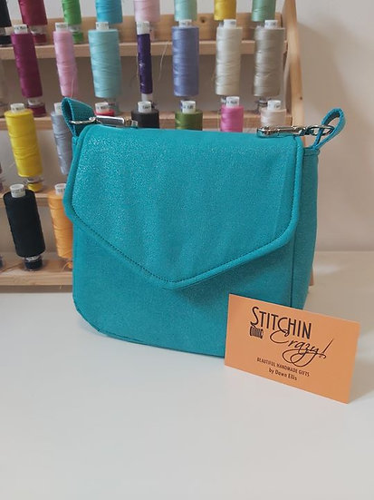 Hands Free Turquoise Sparkle Bag
