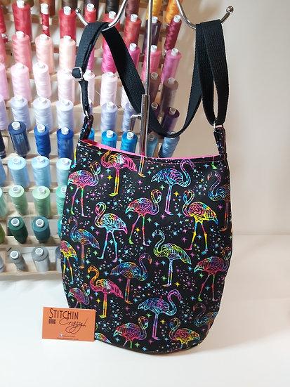Multi Colour Flamingo Cross Body Bag