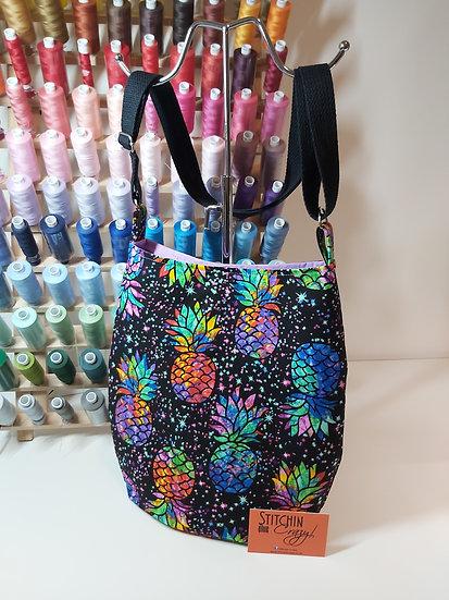 Multi Colour Pineapple Cross Body Bag
