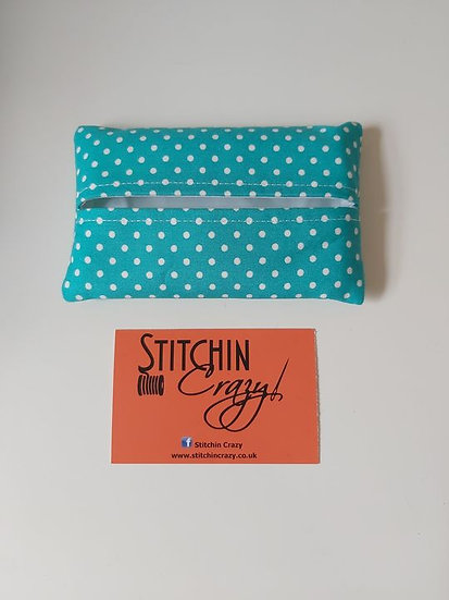 Turquoise Spot Tissue Pouch