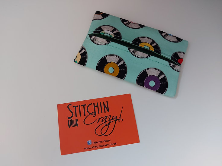 Vinyl Record Print Tissue Pouch