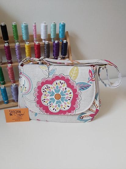 Bold floral handbag