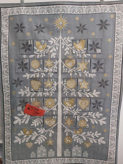 Grey & Gold Christmas Tree Advent Calendar
