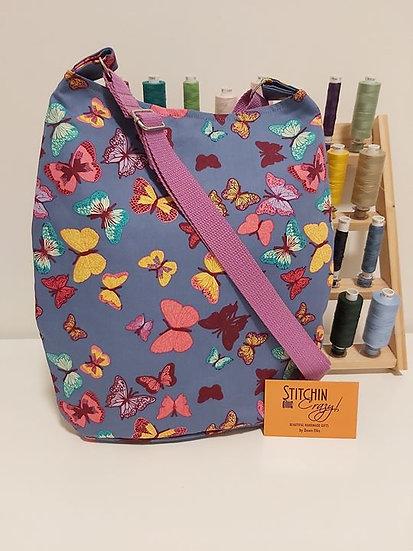 Lilac Butterfly Cross Body Bag