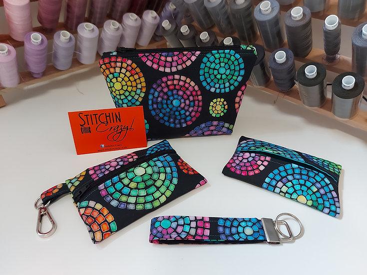 Rainbow Mosaic Handbag Set
