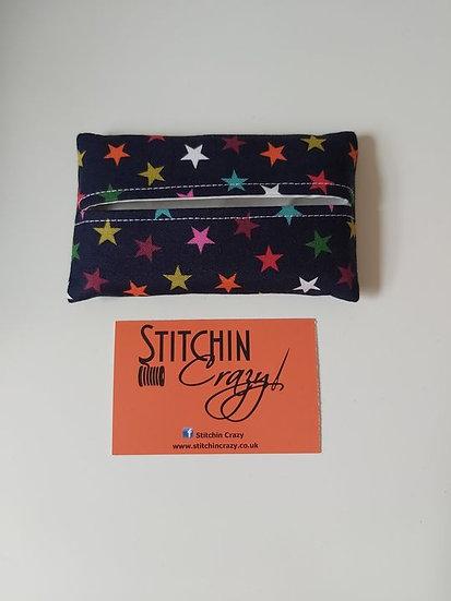 Multi Coloured Star Tissue Pouch