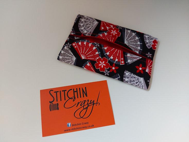 Red Fan Print Tissue Pouch