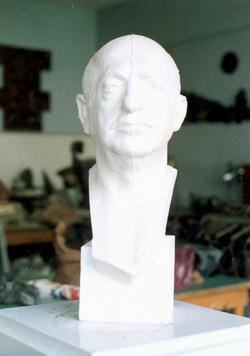 Prof. Y.SAMI GOKGOZ  Bust.  60x25x23 cm 1987