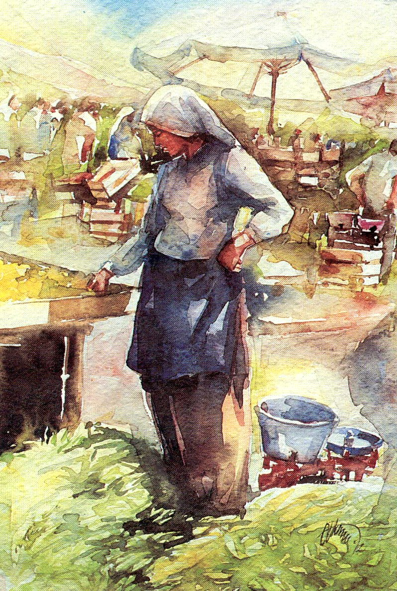 Seller farmer girl