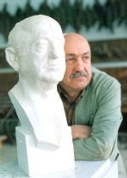 tn_Prof. Y.SAMI GOKGOZ and his Bust.  60x25x23 cm 1987