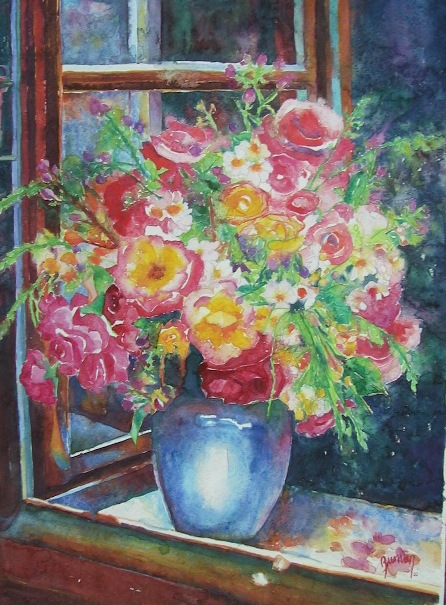 Roses_in_the_blue_vase