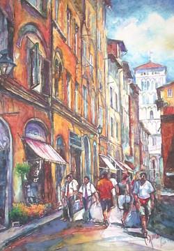 Orange Street with Towel