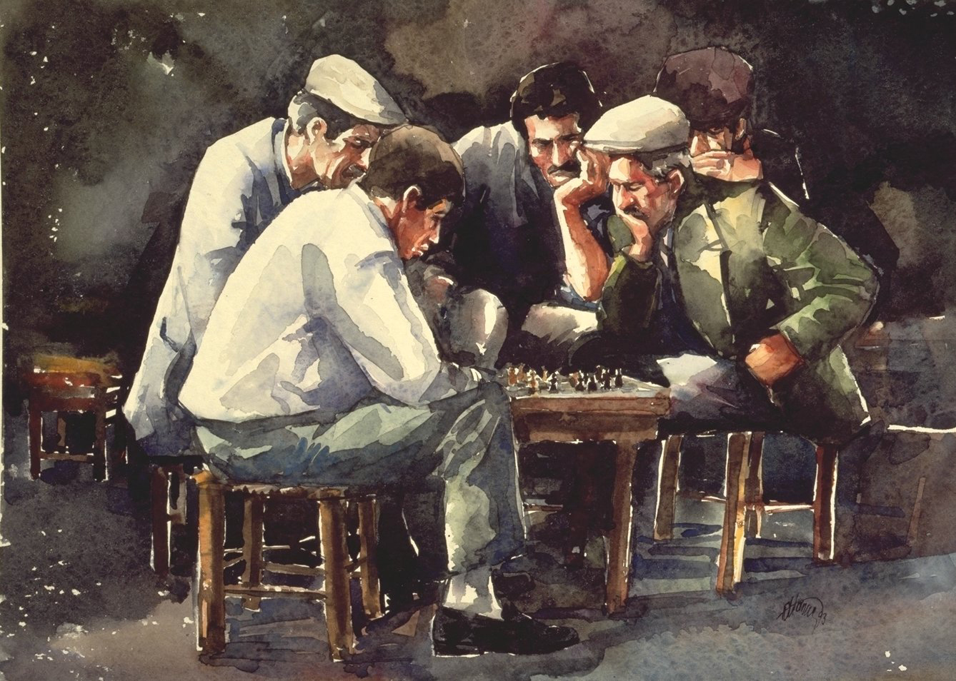 Checker Players 35x50 cm