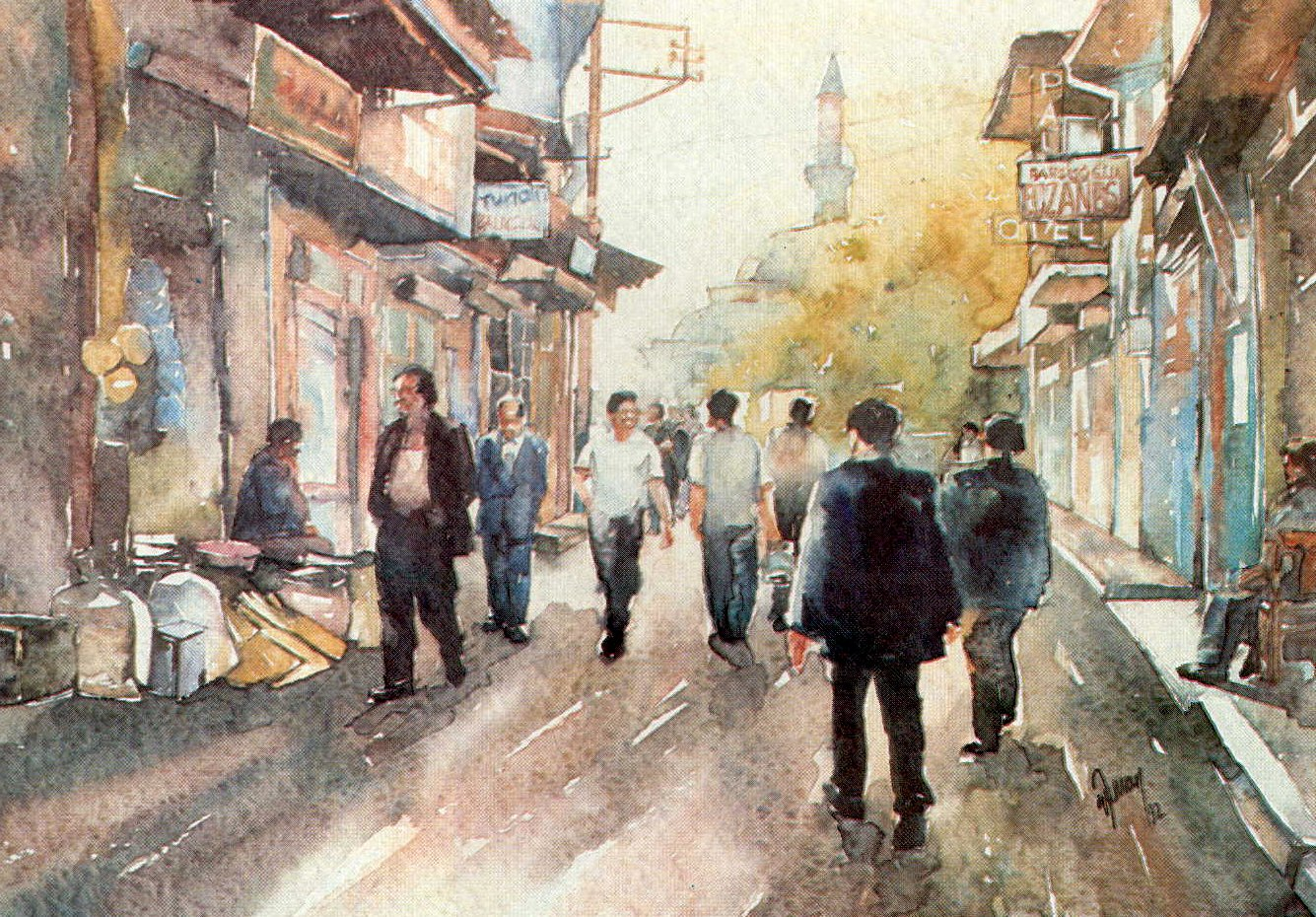 Tilkilik street seen in Izmir
